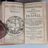 Howell, James. Instructions and Directions for Forren Travell ... (Second Ed.) - First English continental handbook for travelers