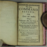 Venning, Ralph. Orthodox Paradoxes & The New Command Renew'd (London, 1652)