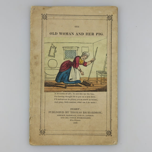 Rare six pence Chapbook with all Illustrations hand-colored in multiple colors