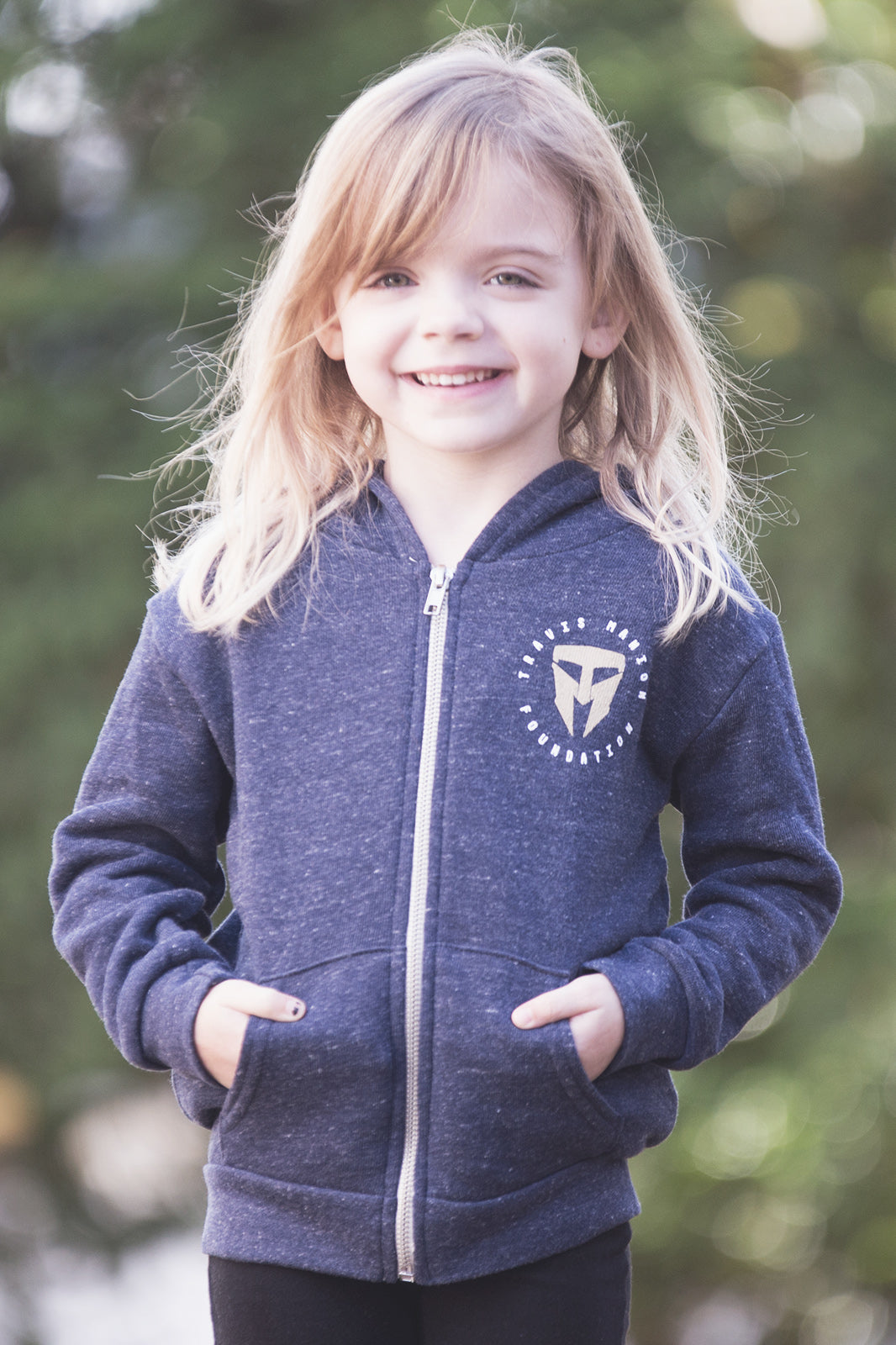 Toddler/Youth Royal Apparel Navy Blue Zip Up Hoodie