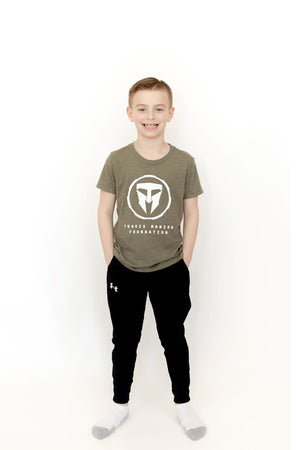 Youth Triblend Tee - Olive