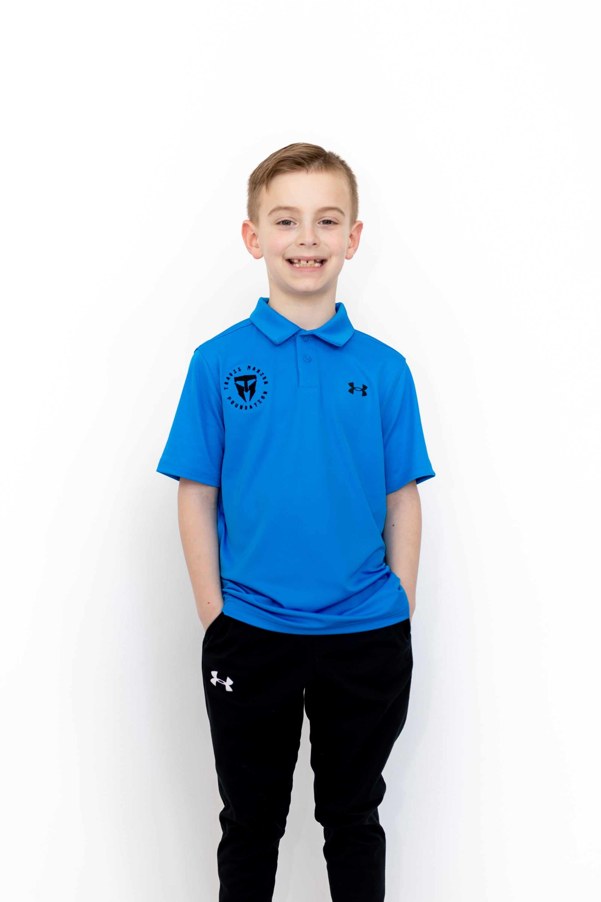 Boys UA Performance Polo- Blue