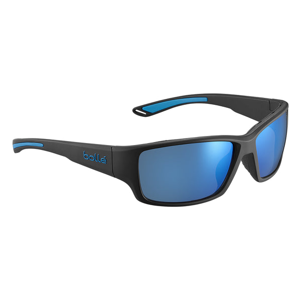 Bolle KAYMAN Black Blue Matte - OffShore Blue Polarised