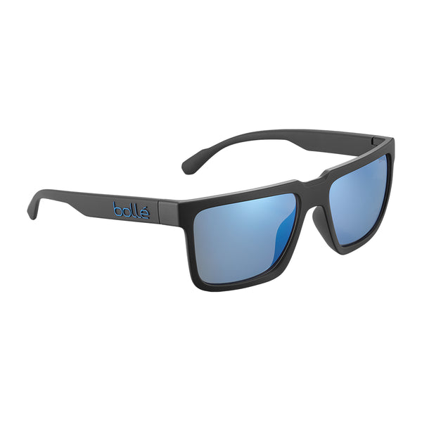 Bolle FRANK Black Matte - Offshore Blue Polarized