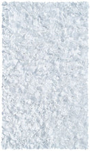 Shaggy Raggy White Area Rug