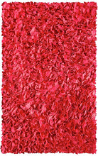Shaggy Raggy Red Area Rug