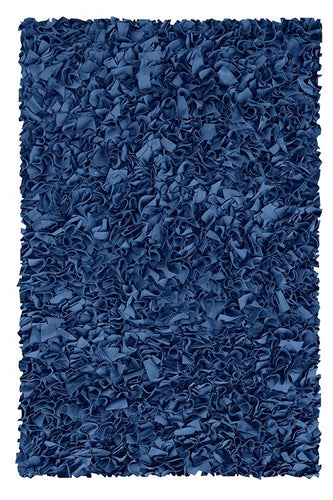Shaggy Raggy D/Blue Area Rug