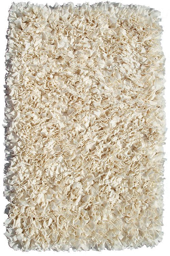 Shaggy Raggy Cream Area Rug