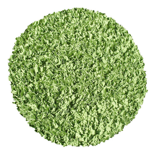 Shaggy Raggy Lime Area Rug