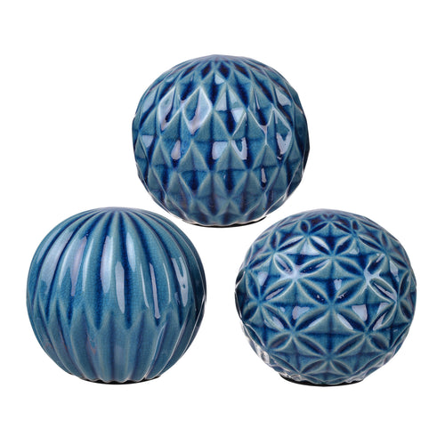 Blue Balls  Set of 3
