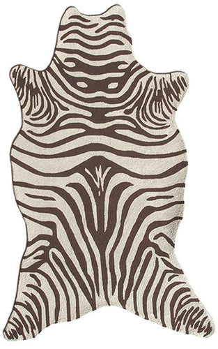 Zebra Brown Shaped Area Rug