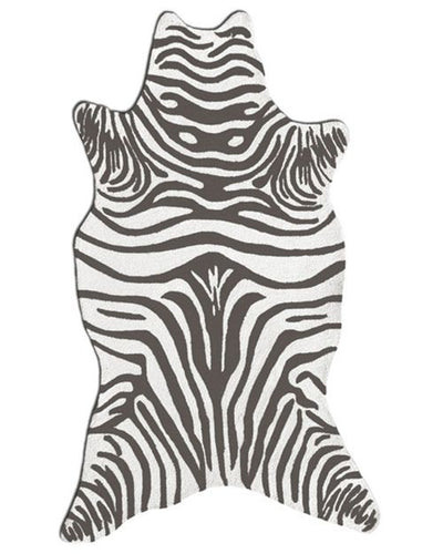 Zebra Grey Shaped Area Rug