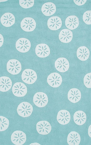 Sand Dollar Blue Area Rug