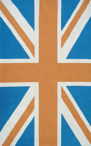 Union Jack Orange Area Rug