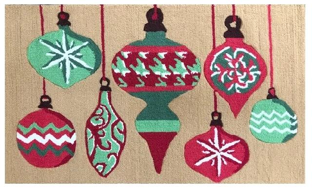 Xmas Ornaments Size 2.5X4 Area Rug