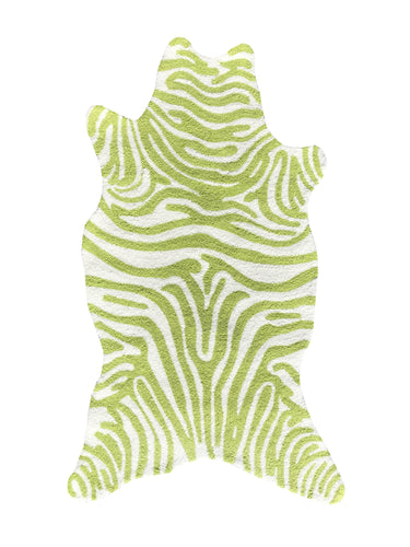 Mini Zebra Lime Area Rug