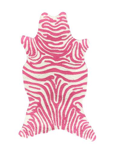 Mini Zebra Pink Area Rug