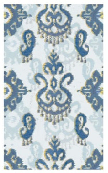 Ikat Yellow/Blue Area Rug (25706D)