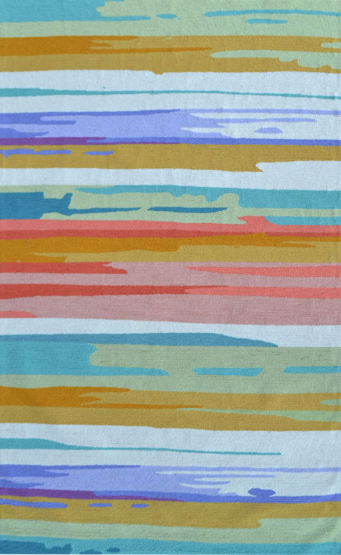 Watercolor Stripe Size 5X8 Area Rug