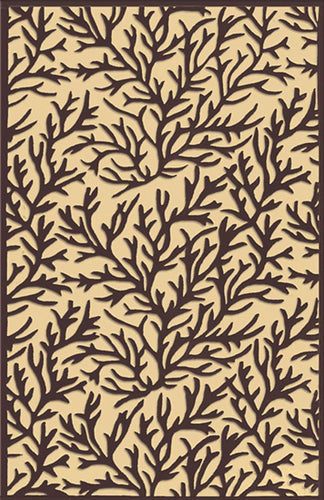 Coral Reef Black Area Rug