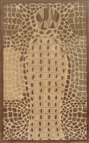 Croco Brown Area Rug