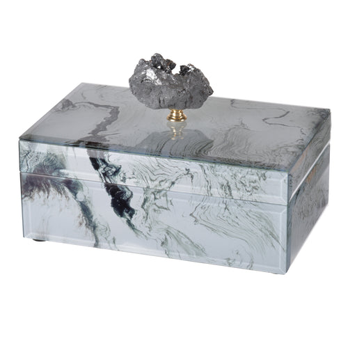 Jewelry Case White Marble , Medium