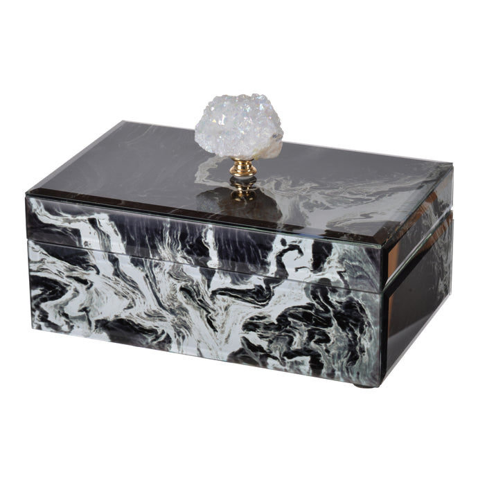 Jewelry Case Black Marble , Medium