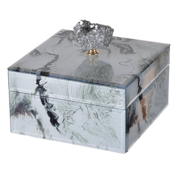 Jewelry Case White Marble , Small