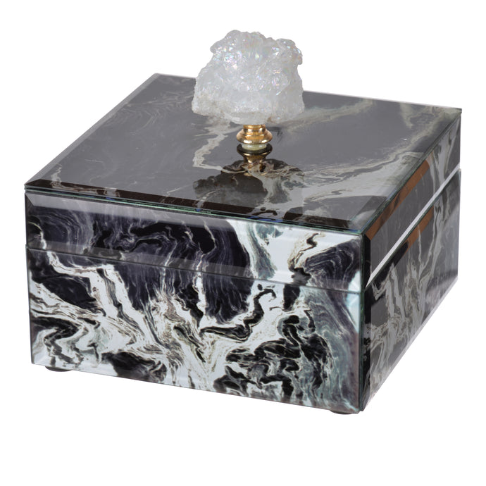 Jewelry Case Black Marble , Small