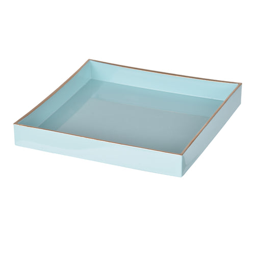 Blue Mimosa Square Tray