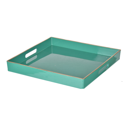 Turquoise Mimosa Square Tray
