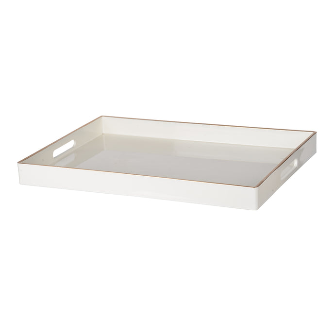 Mimosa Rectangle Tray,White