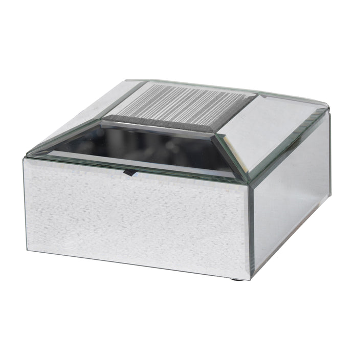 Slayden Beveled Jewelry Case, Silver