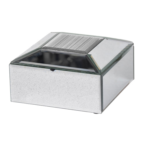 SLAYDEN BELEVED JEWELRY CASE- Silver