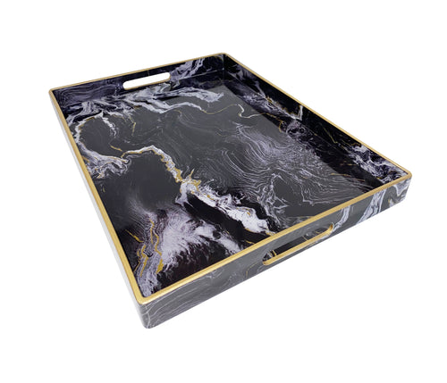 Faux Black Marble Tray - Single