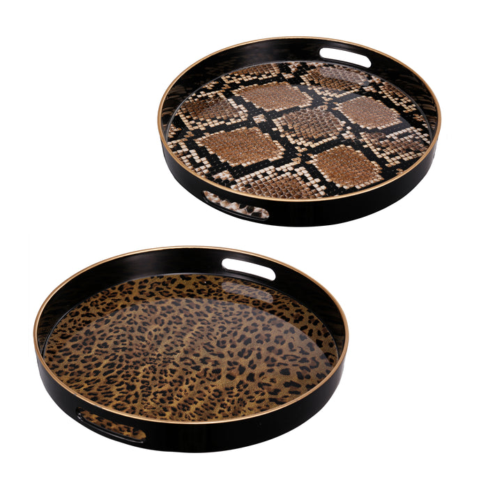 Safari Decorative Trays (Set of 2)