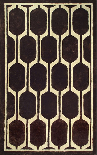 Honeycomb Brown Area Rug