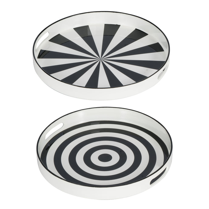 Alice Quinn Round Tray (Set Of 2)