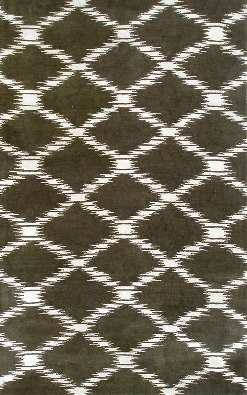 Scale Brown Area Rug
