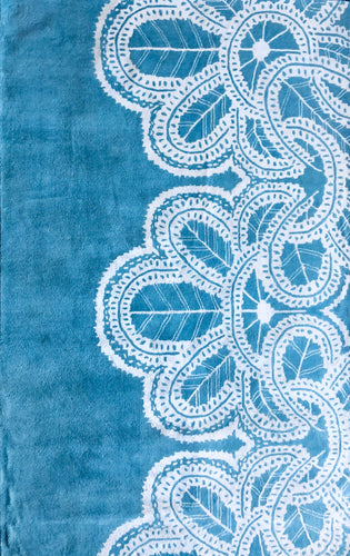 Lace Blue Size 5X8 Area Rug