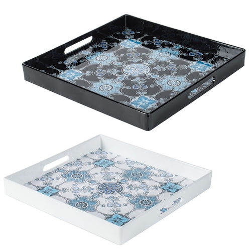 Intricate Decorative Tray (Set Of 2)