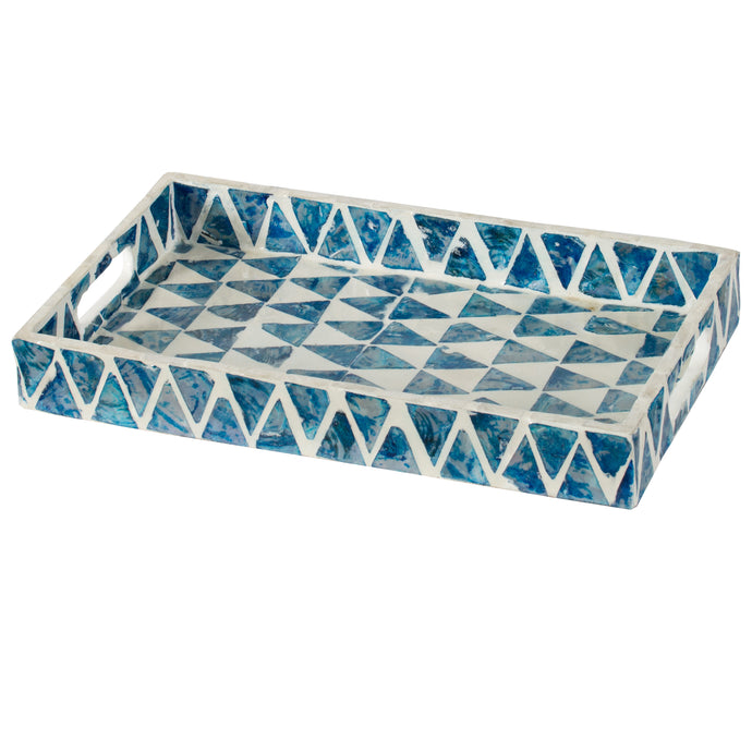 Mosaic Blue Tray