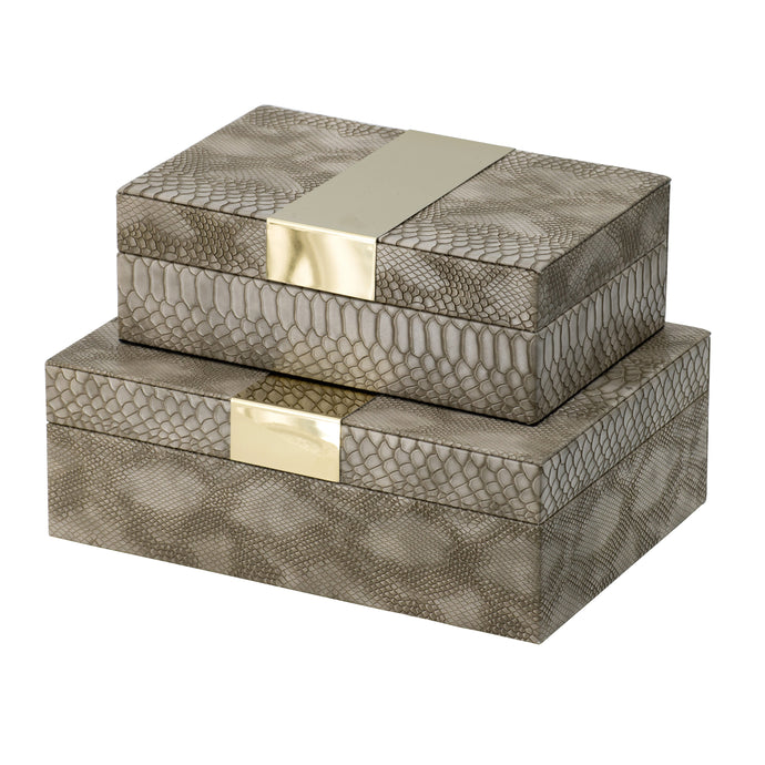 Snake Skin  Box (Set of 2)