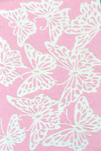 Multi Butterfly Pink Area Rug