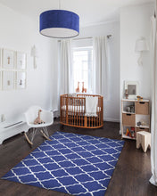 Lattice Navy Area Rug