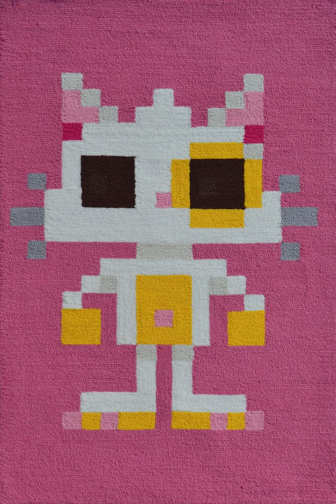 Pixel Cat Area Rug