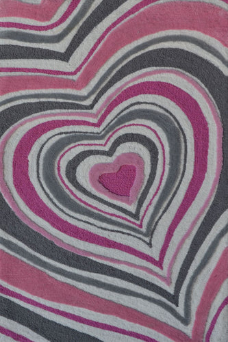 Heart Stripe Area Rug