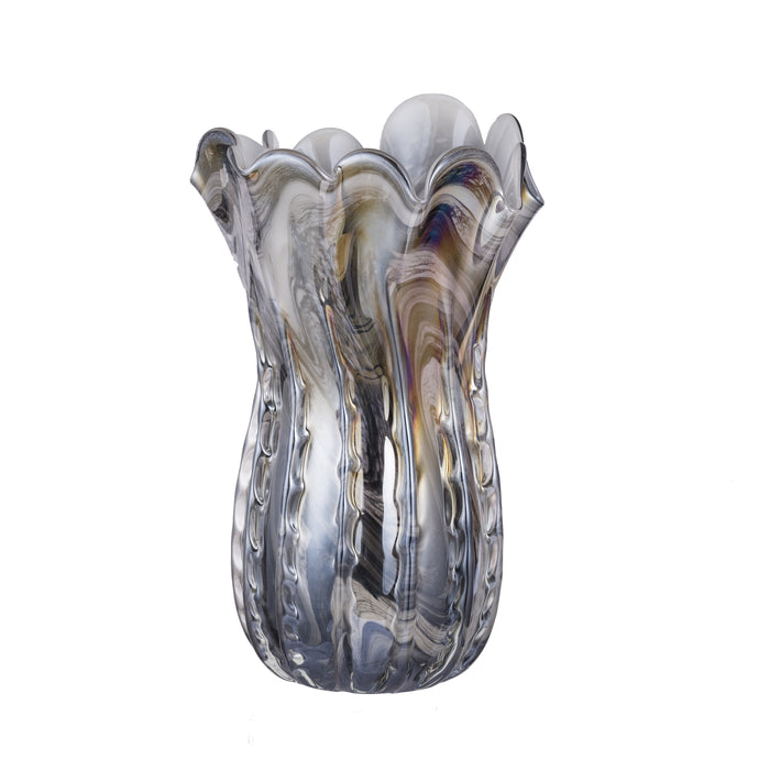 Short Svirla Blown-Glass Vase