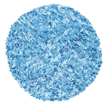 Shaggy Raggy Light blue Area Rug (02203)