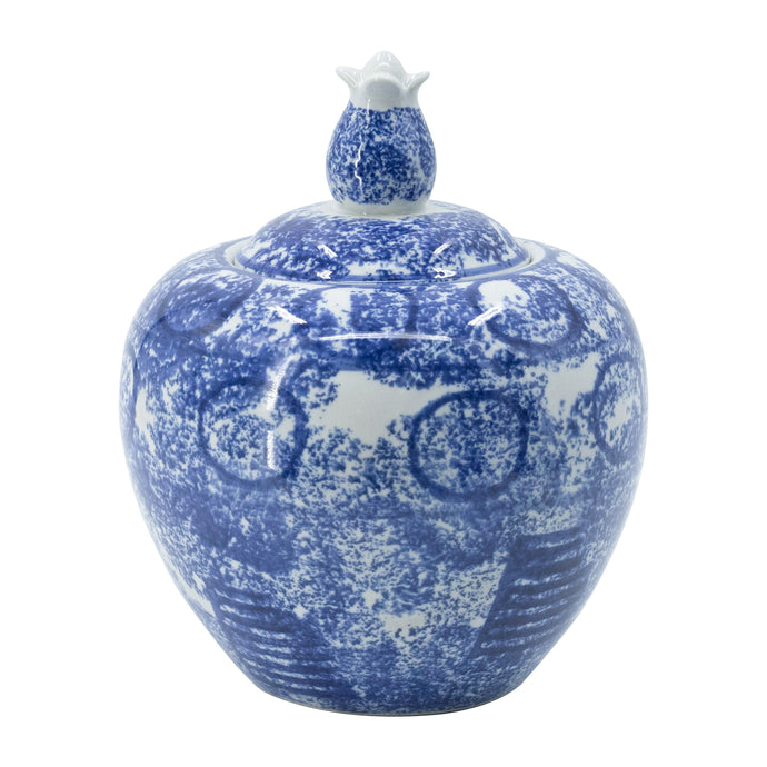 The Blue & White  Jar